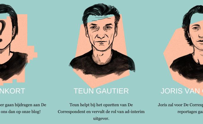 Toen de website van De Correspondent oline ging werd Teun Gautier vermeld als adviseur en ad-interim uitgever.