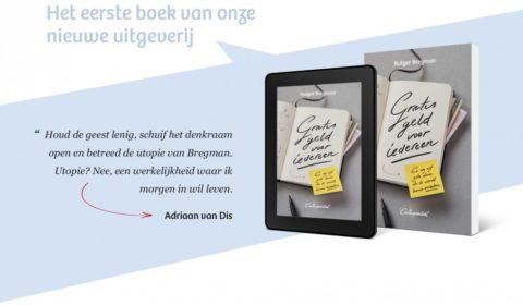 Op 15 september 2014 verscheen het eerste boek bij De Correspondent: Gratis geld voor iedereen, van Rutger Bregman.