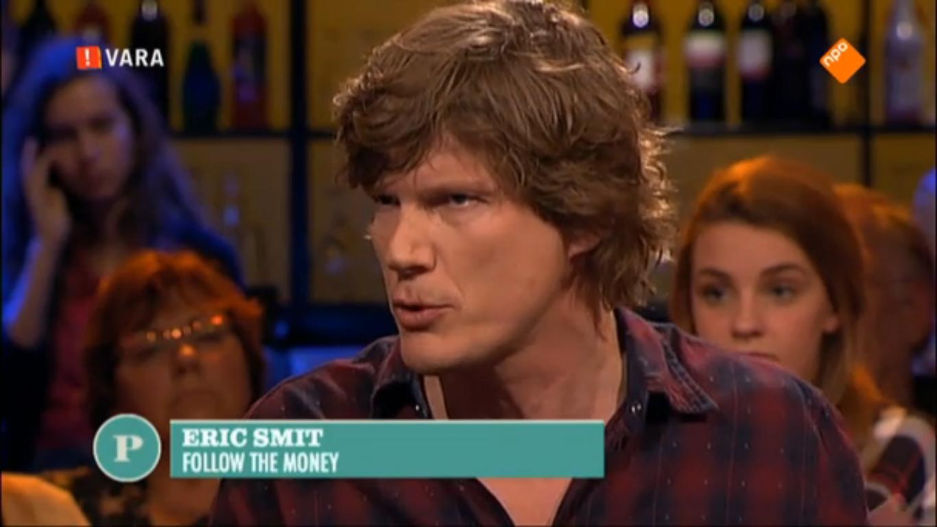 Eric Smit tijdens de uitzending van Pauw op 20 maart 2015.