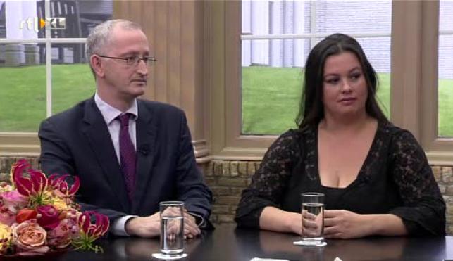 Joshua Livestro en Annabel Nanninga op 12 oktober 2014 in de uitzending van Business Class op RTL7 om te vertellen over Jalta.nl.