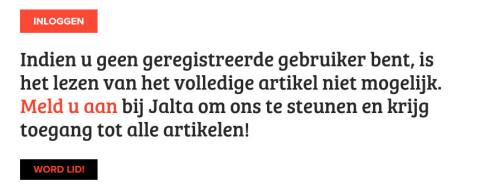 Wie op de website van Jalta een artikel klikt, stuit op de betaalmuur.