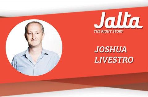 Oprichter en hoofdredacteur van Jalta, Joshua Livestro.