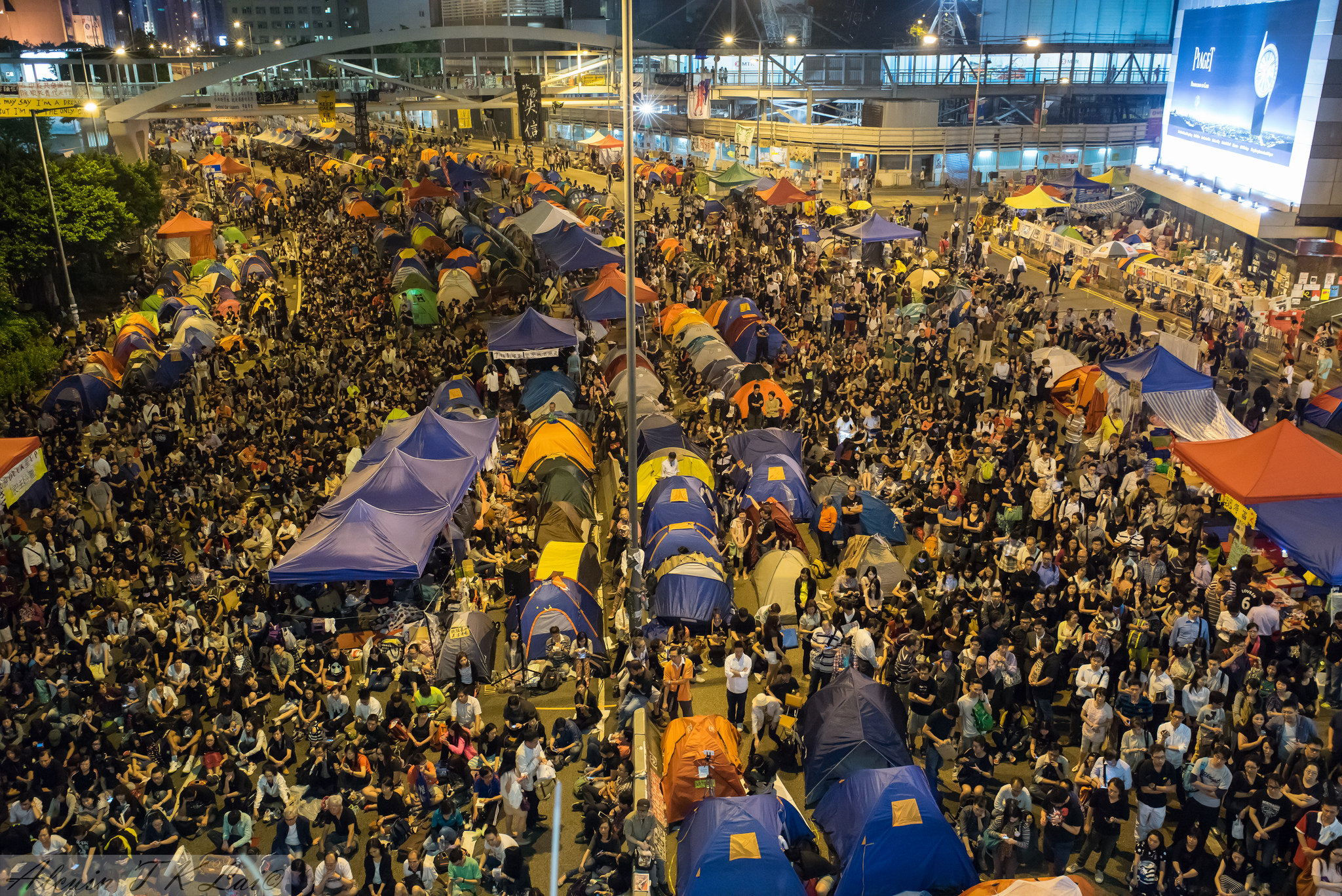 De paraplu revolutie in Hong Kong - foto: alcuin lai/flickr/cc