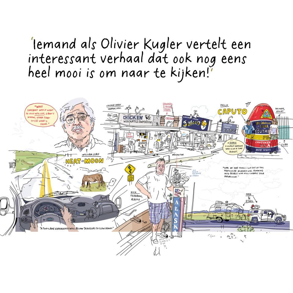 Olivier Kugler is een Duitse tekenend journalist die werkt in Londen. Onlangs won hij de World Illustration Award voor de tekeningen die hij maakte in een Syrisch vluchtelingenkamp.