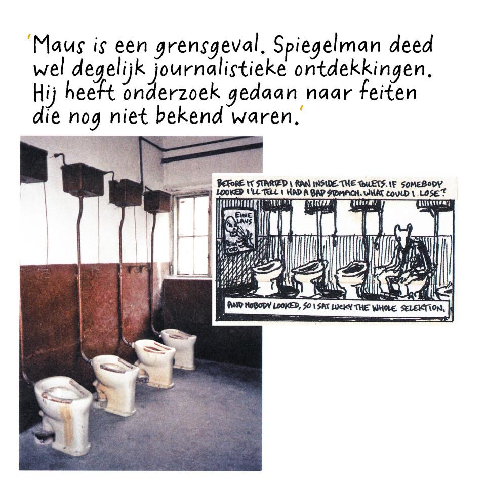 Deze foto komt uit het boek Metamaus, waarin Art Spiegelman vertelt hoe Maus tot stand is gekomen.