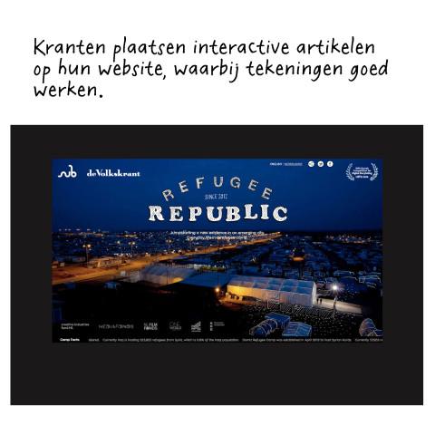 Jan Rothuizen tekende voor de de transmediale interactieve documentaire 'Refugee Republic' van de Volkskrant.