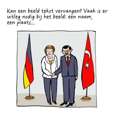 Bondskanselier Angela Merkel en minister president Ahmet Davotoglu van Turkije. Istanboel, 8 oktober 2015.