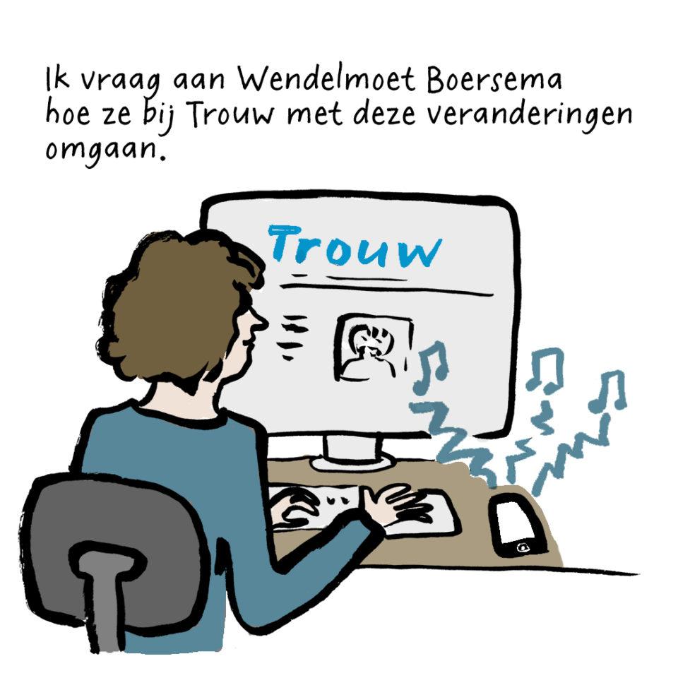 Wendelmoet Boersema is chef nieuwskrant en project crossmedia bij Trouw.