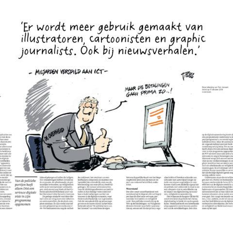 Illustratie van cartoonist Tom Janssen.