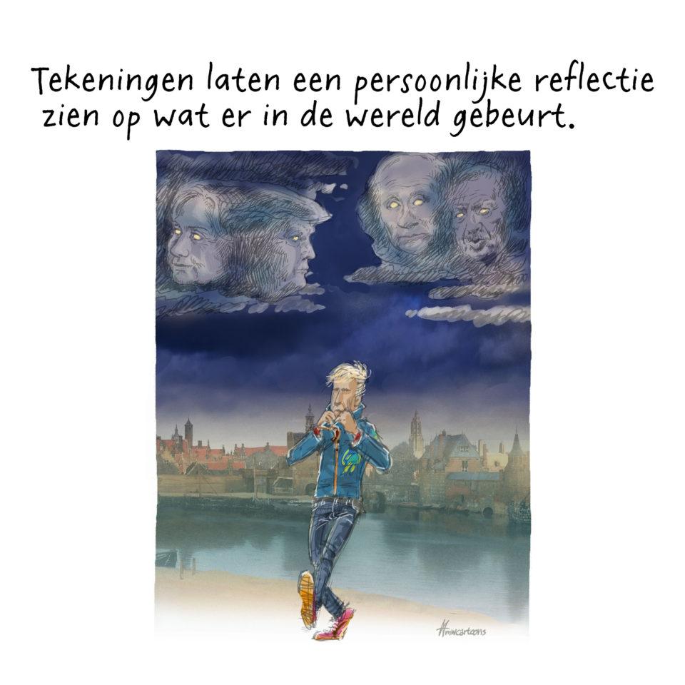 Tekening van Maarten Wolderink.