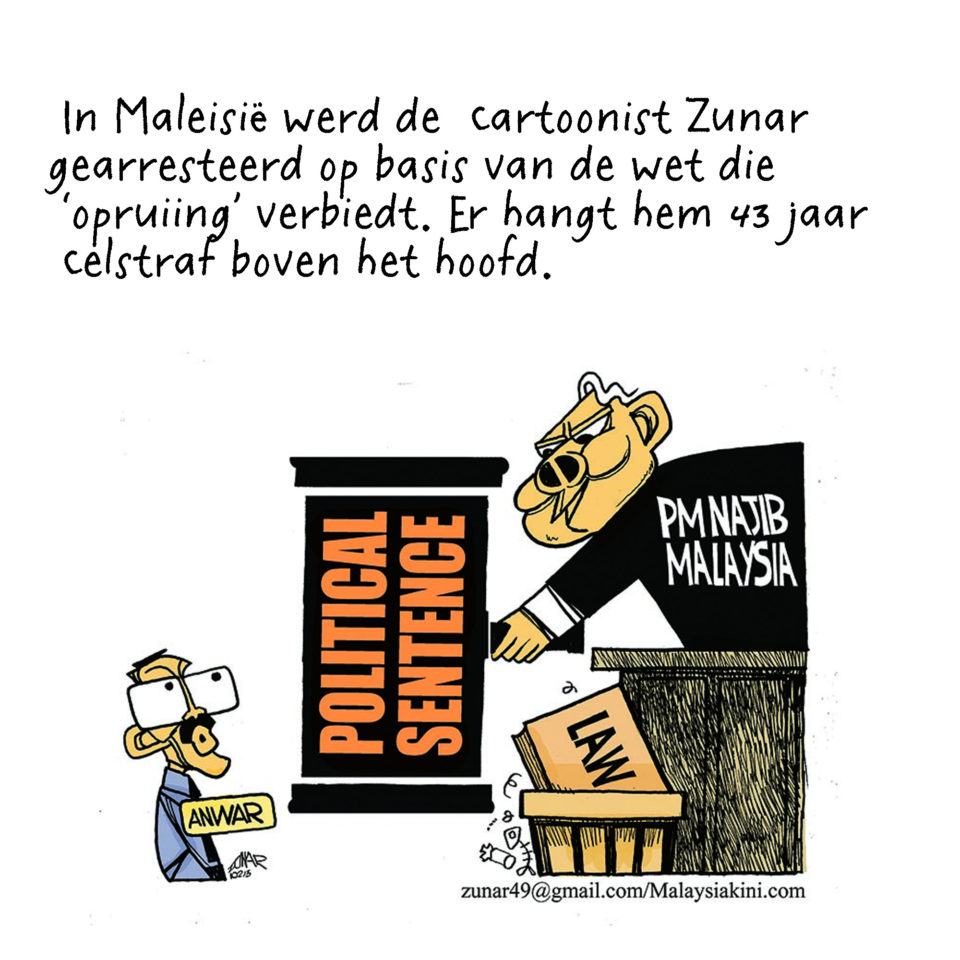Cartoon van Zunar.