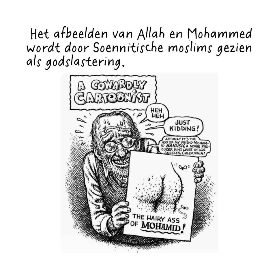 Tekening van Robert Crumb naar aanleiding van de aanslagen op Charlie Hebdo op 7 januari 2015.