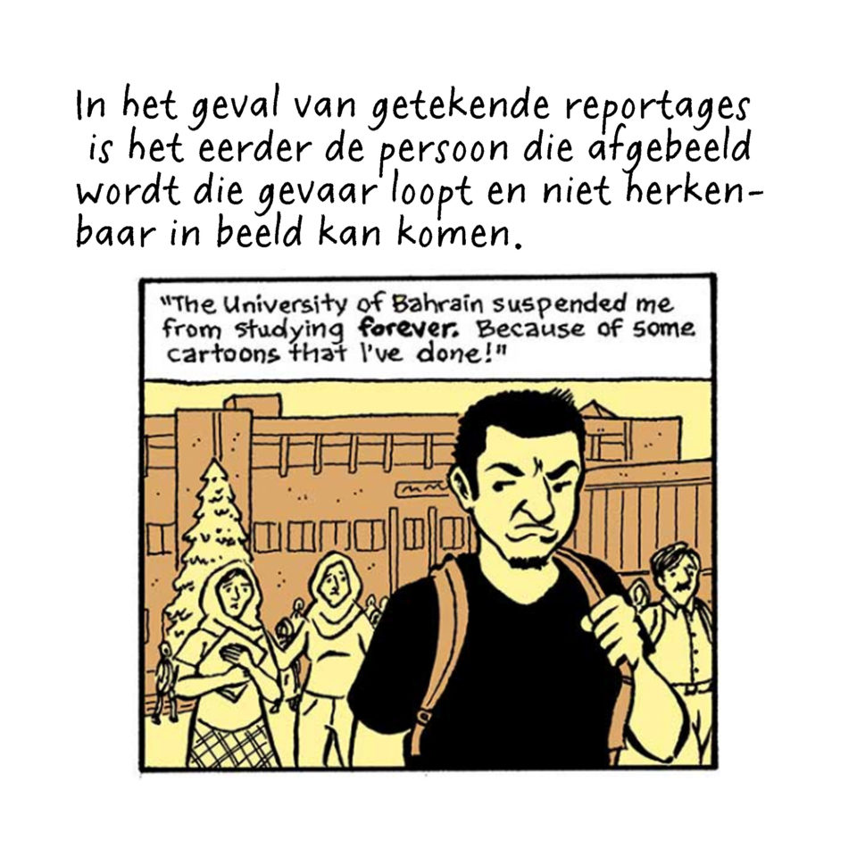 Journalistieke strip van Josh Neufeld over Bahrein.