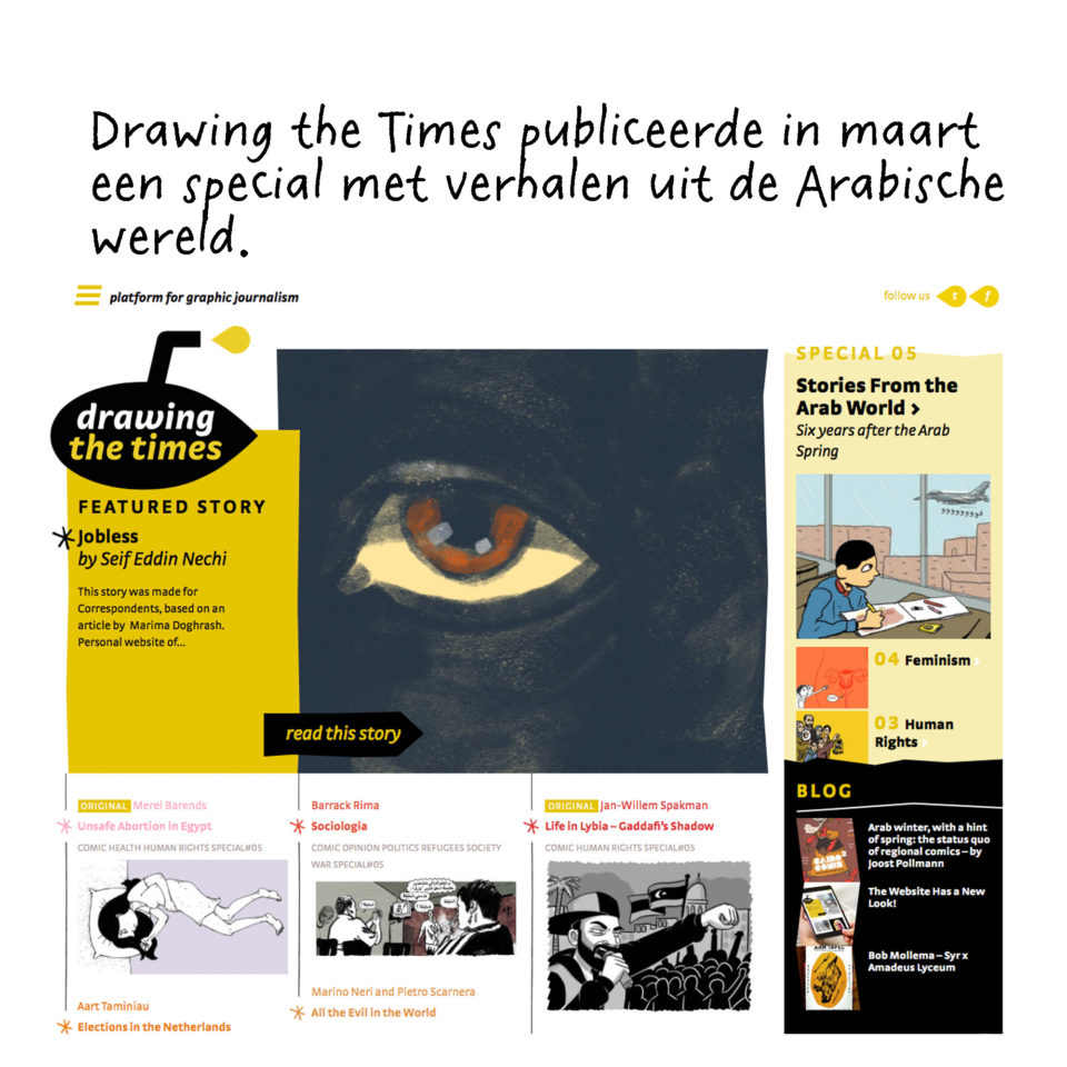 Homepage van Drawing the Times.