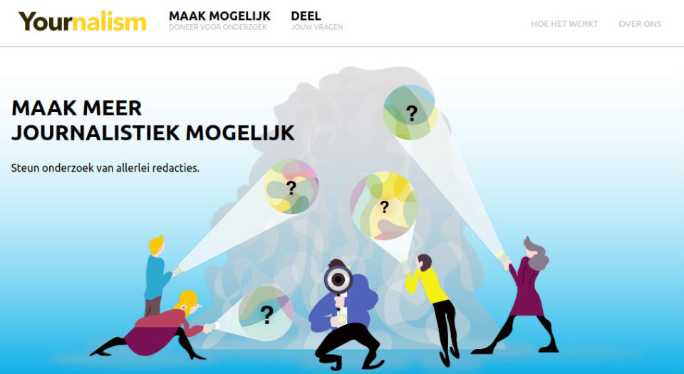 Screenshot van de website van Yournalism.