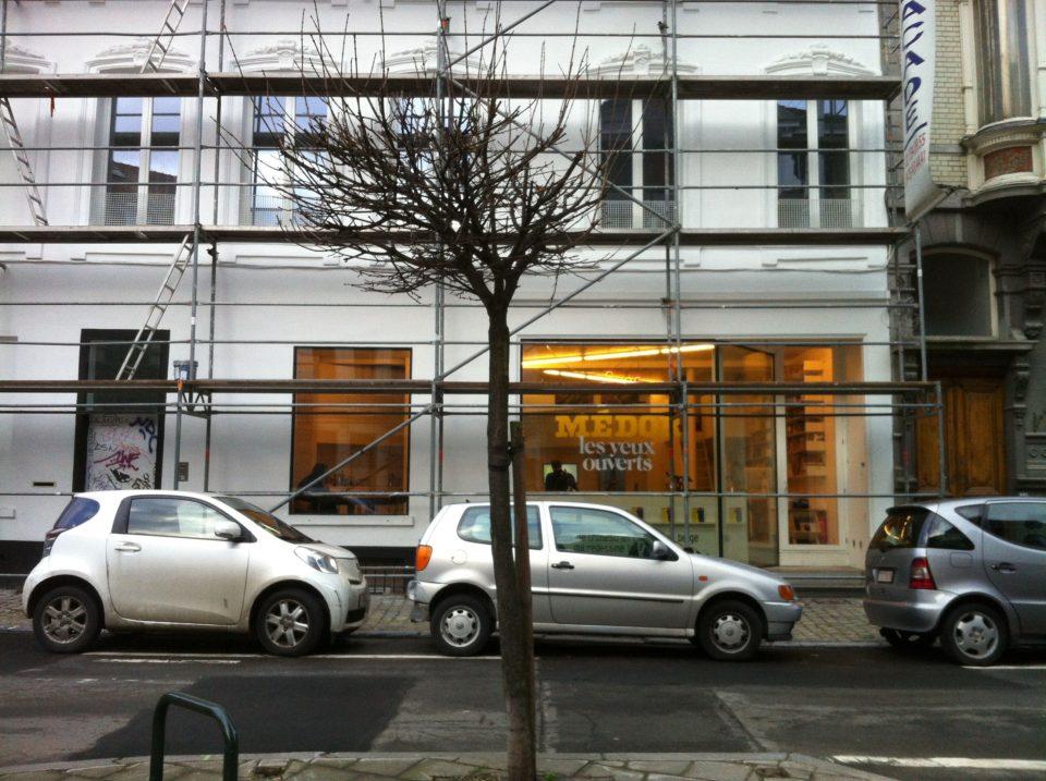 Het kantoor van Médor in Brussel. Foto: Mathilde Sanders.