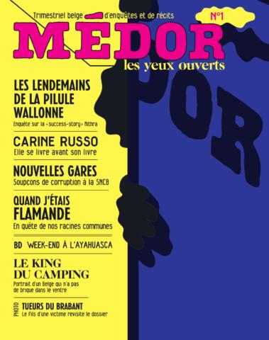 De eerste editie van Médor, die aanvankelijk niet mocht verschijnen van de rechter.
