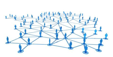 Een voorbeeld van een netwerkdiagram.