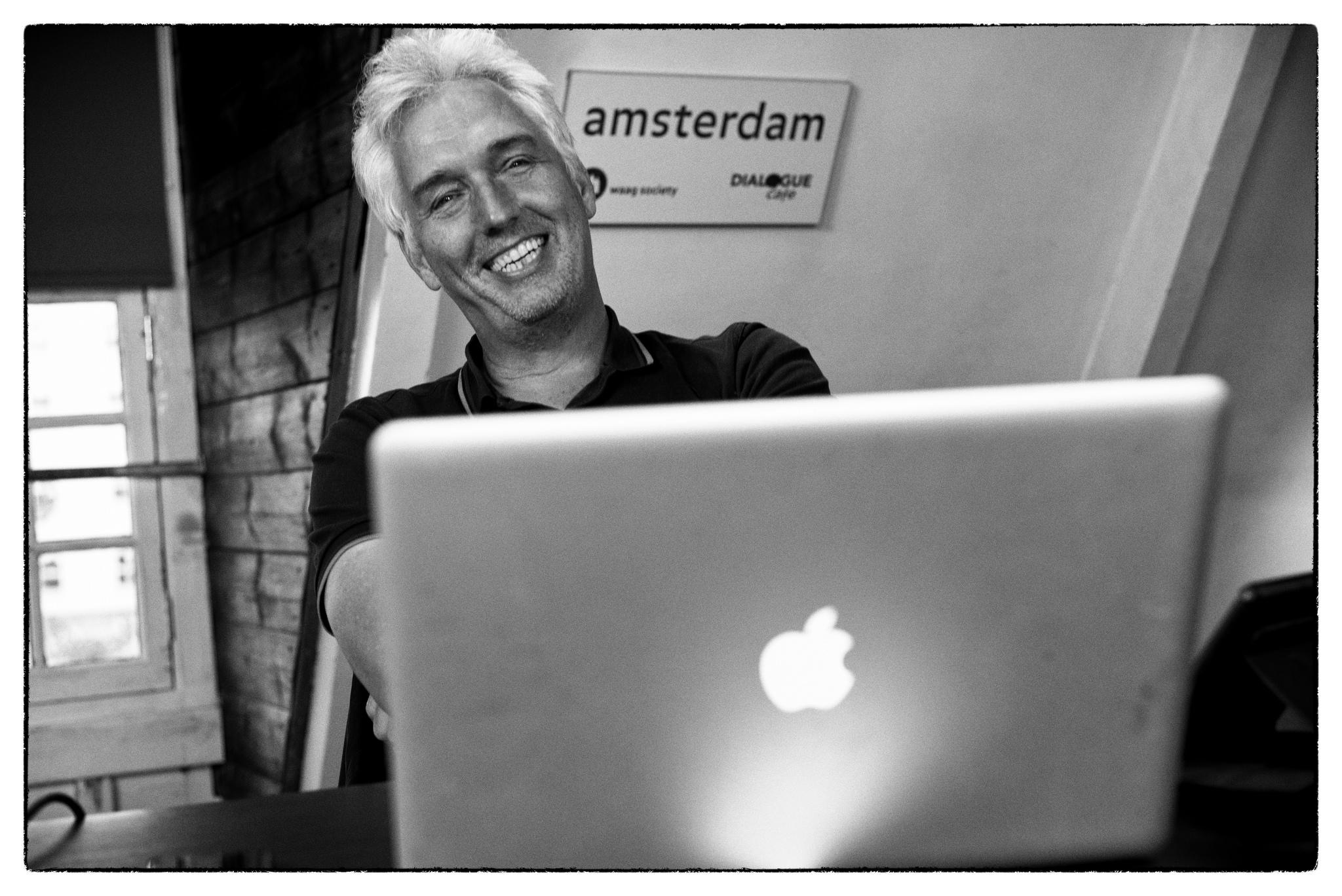 Erwin Blom, oprichter van Fast Moving Targets. Foto: Guido van Nispen.